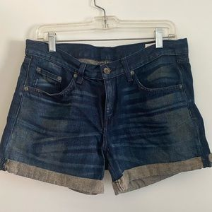 rag & bone jean shorts - size 27
